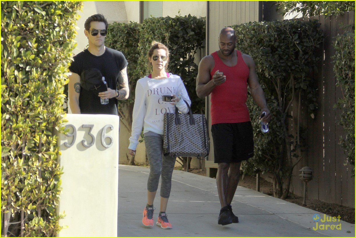 ashley tisdale christopher french mid week workout 08