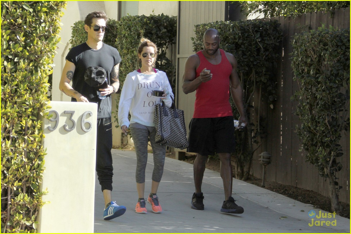 ashley tisdale christopher french mid week workout 11