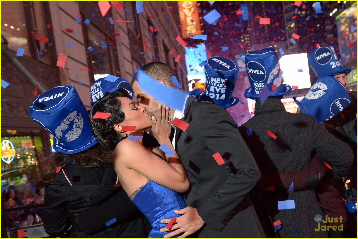 Kat Graham Kisses Fiance Cottrell Guidry on New Year's Eve ...