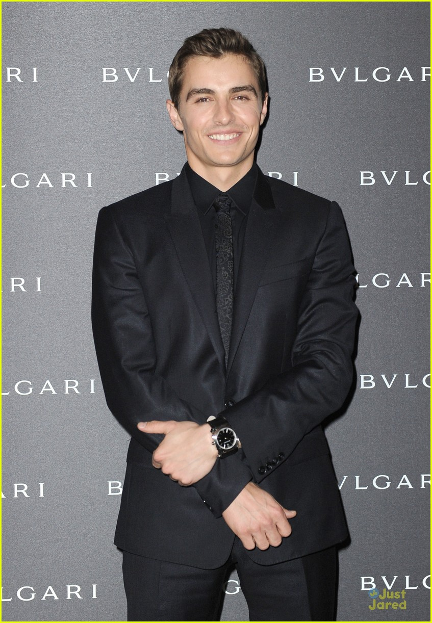 dave franco alison brie bulgari accessories presentation 03