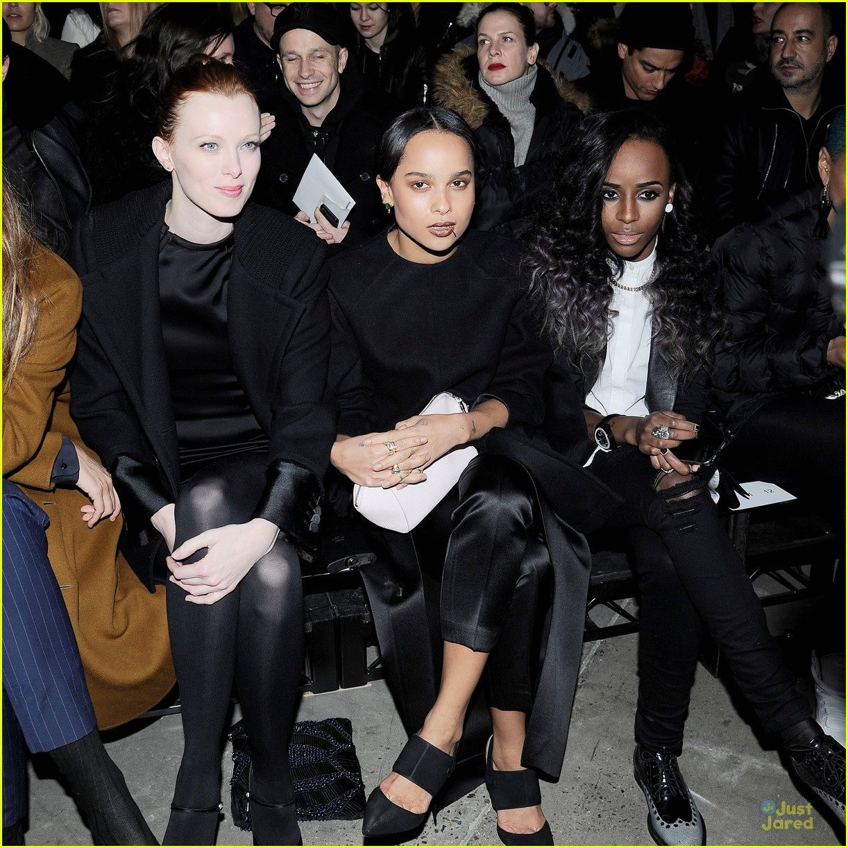 Zoe Kravitz Jennifer Lawrence Friends: Zoe Kravitz: Alexander Wang Fashion Show!