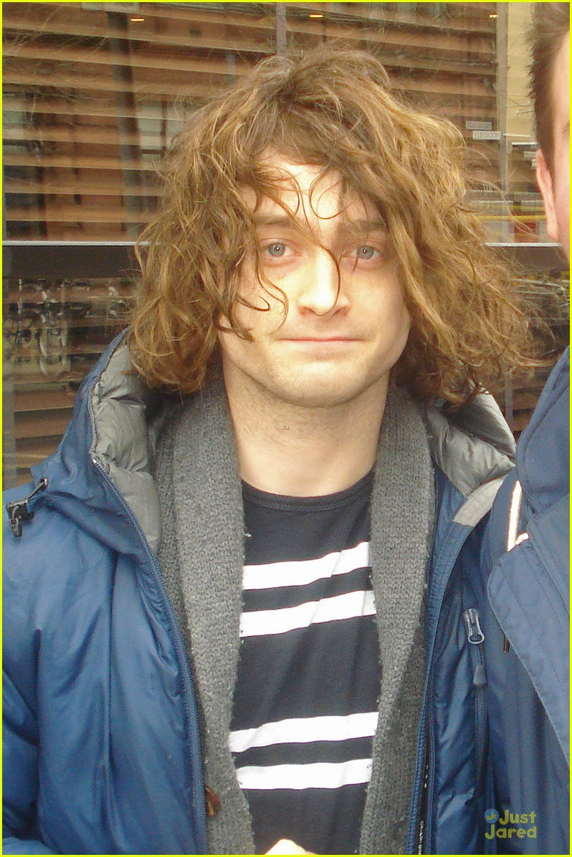 Daniel Radcliffe Covers Long Hair With Topper Hat For Frankenstein