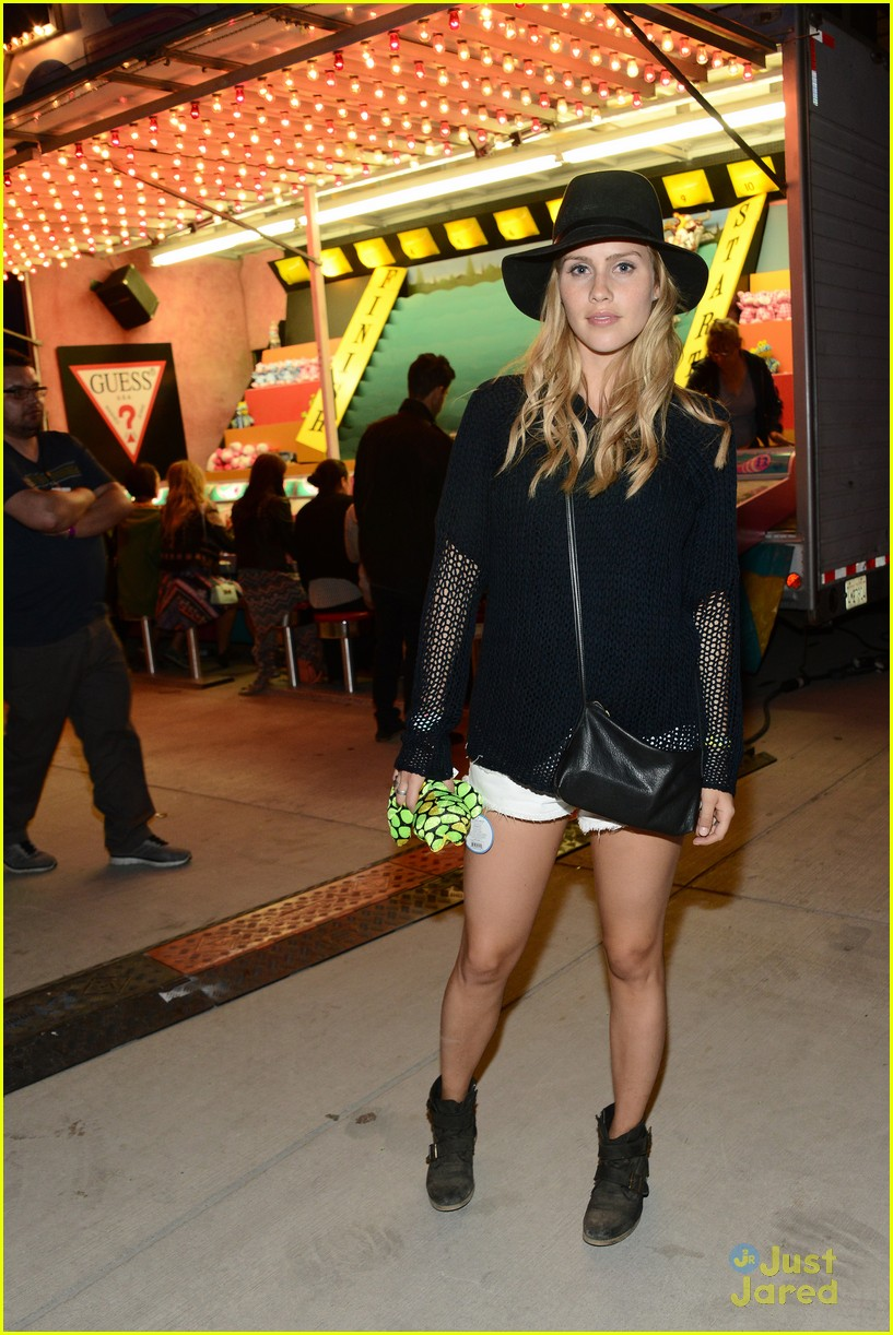 claire holt and nicole anderson show off a little leg at coachella 201406