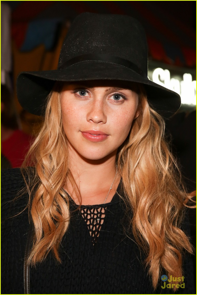claire holt and nicole anderson show off a little leg at coachella 201410