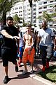 justin bieber continues going shirtless cannes 18