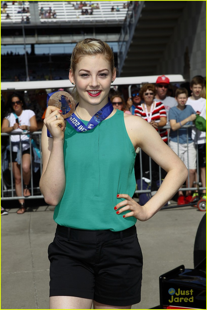 gracie gold nick goepper indy 500 ball race 09