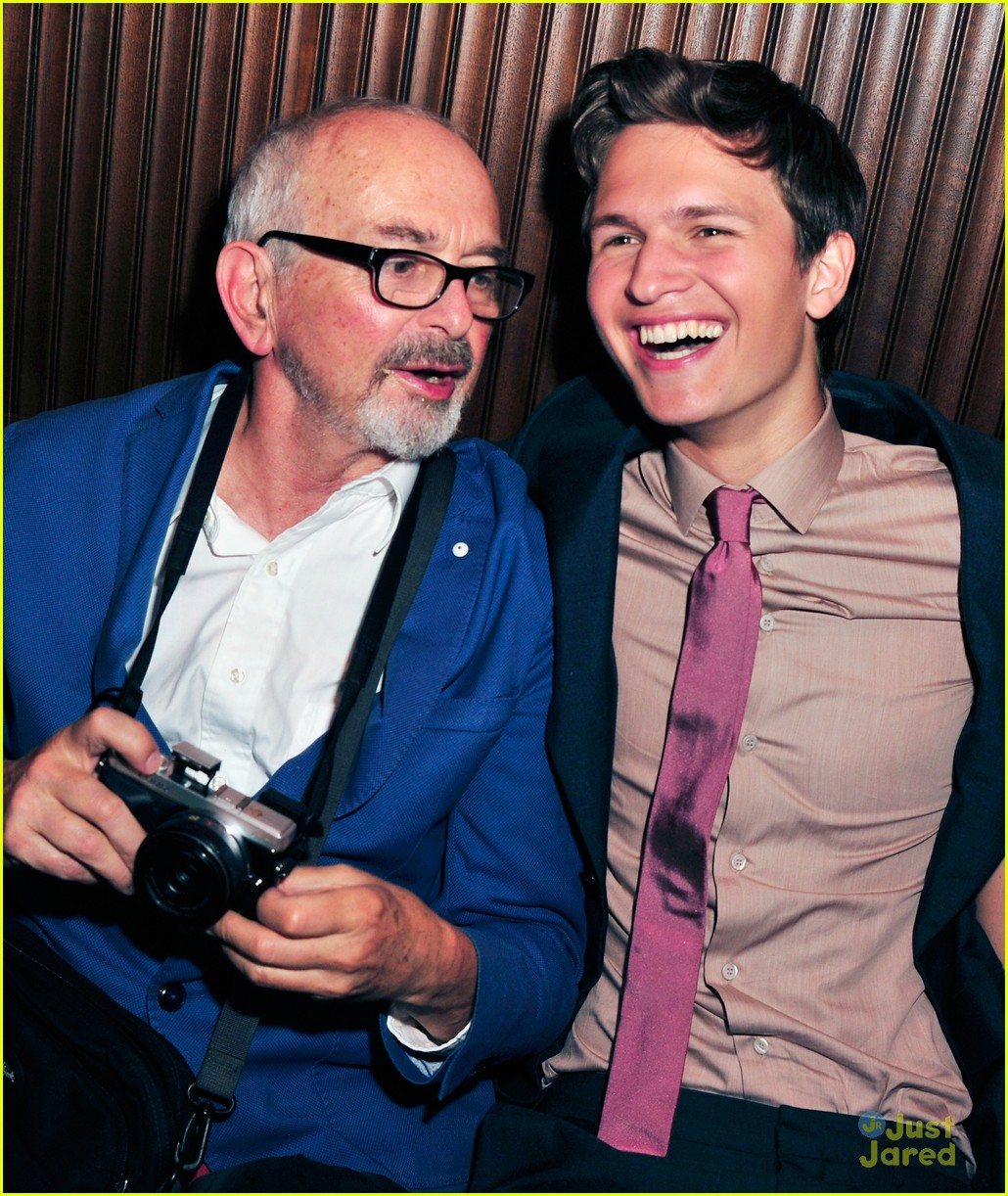 ansel elgort dad tfios premiere party 03