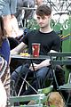 daniel radcliffe dog walker trainwreck nyc set 15