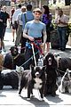 daniel radcliffe dog walker trainwreck nyc set 19