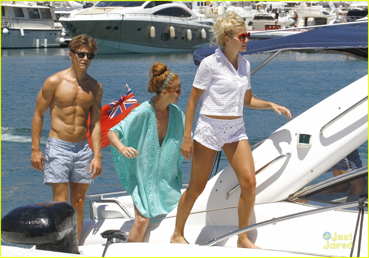 Model Oliver Cheshire Goes Shirtless During Spanish Holiday With - Spain vacation