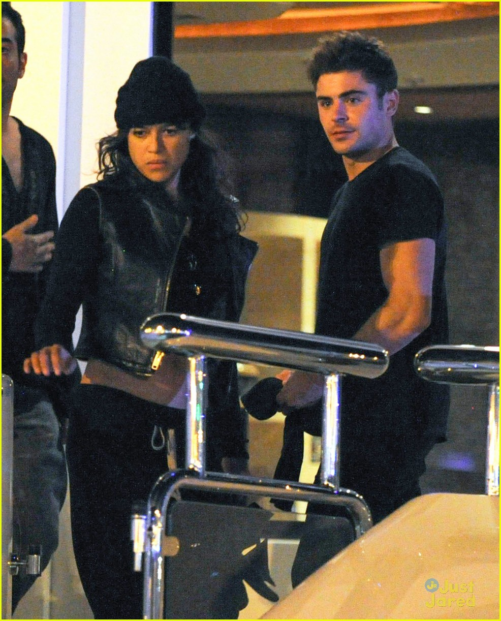 zac efron joins michelle rodriguez on the yacht in ibiza 01