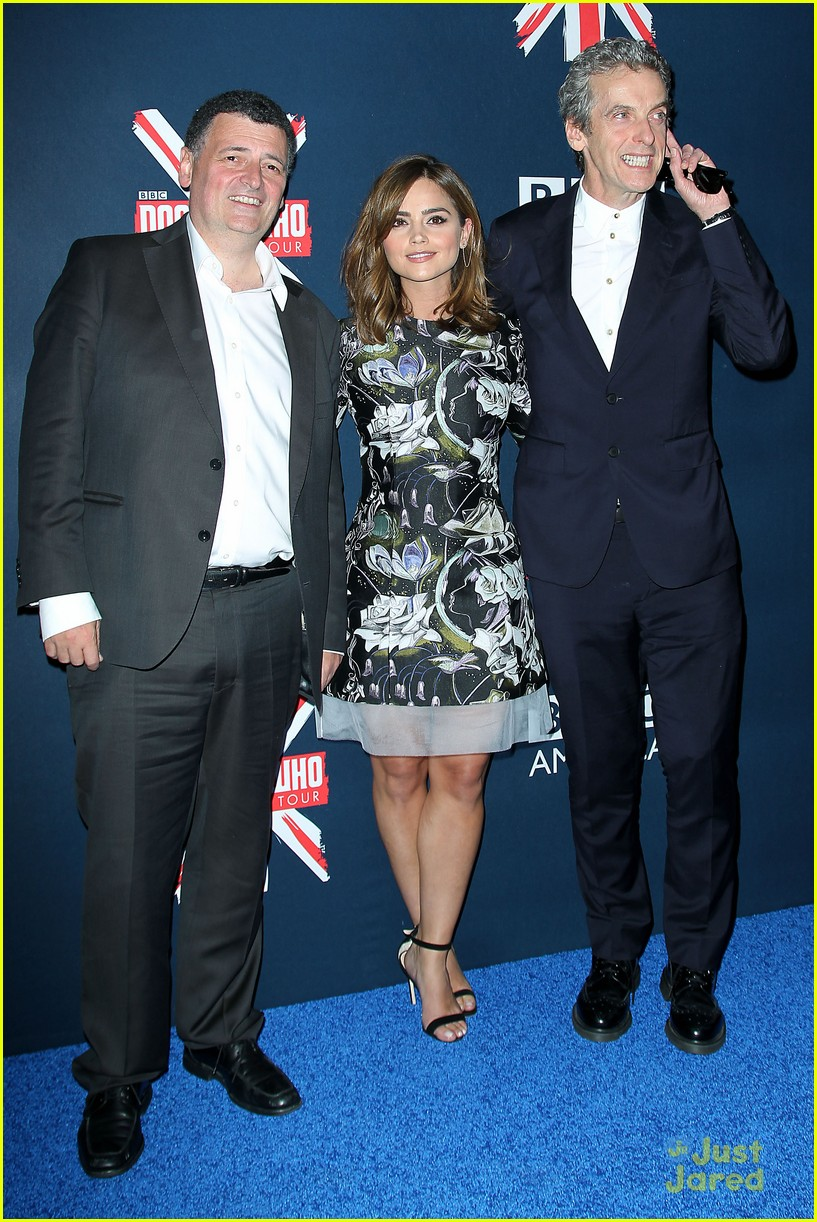 jenna coleman peter capaldi dr who fan screening nyc 03