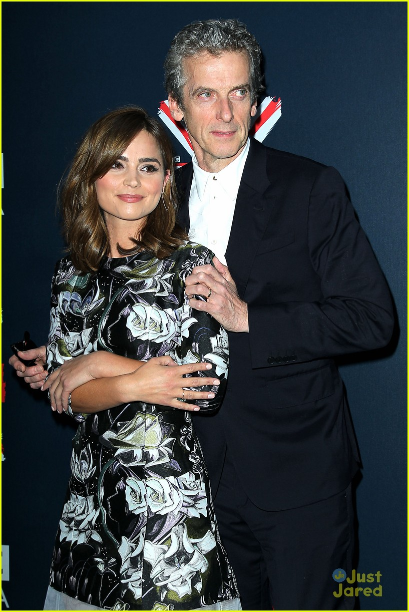 jenna coleman peter capaldi dr who fan screening nyc 04
