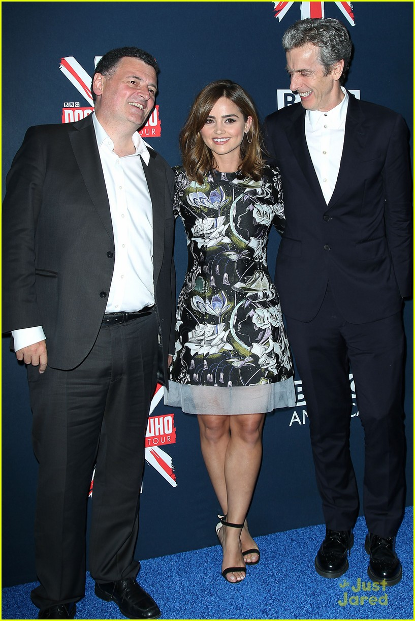 jenna coleman peter capaldi dr who fan screening nyc 14
