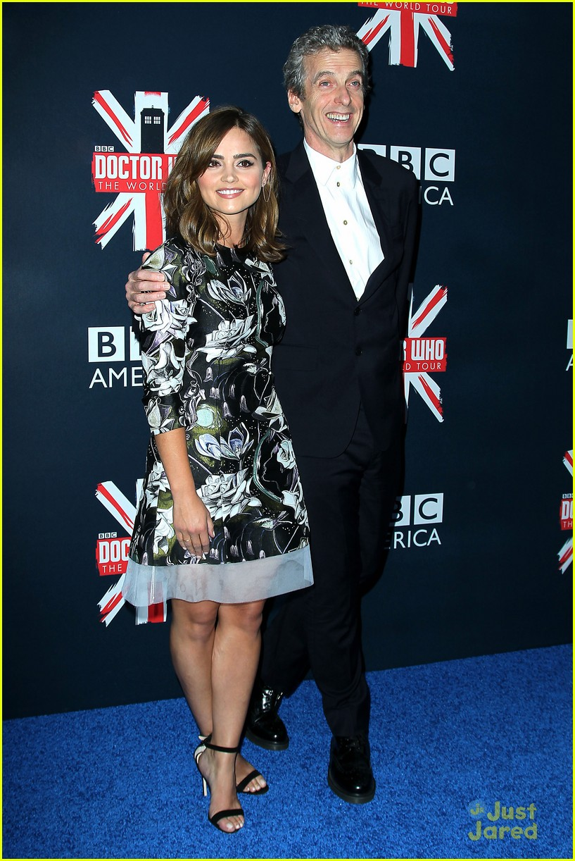 jenna coleman peter capaldi dr who fan screening nyc 17