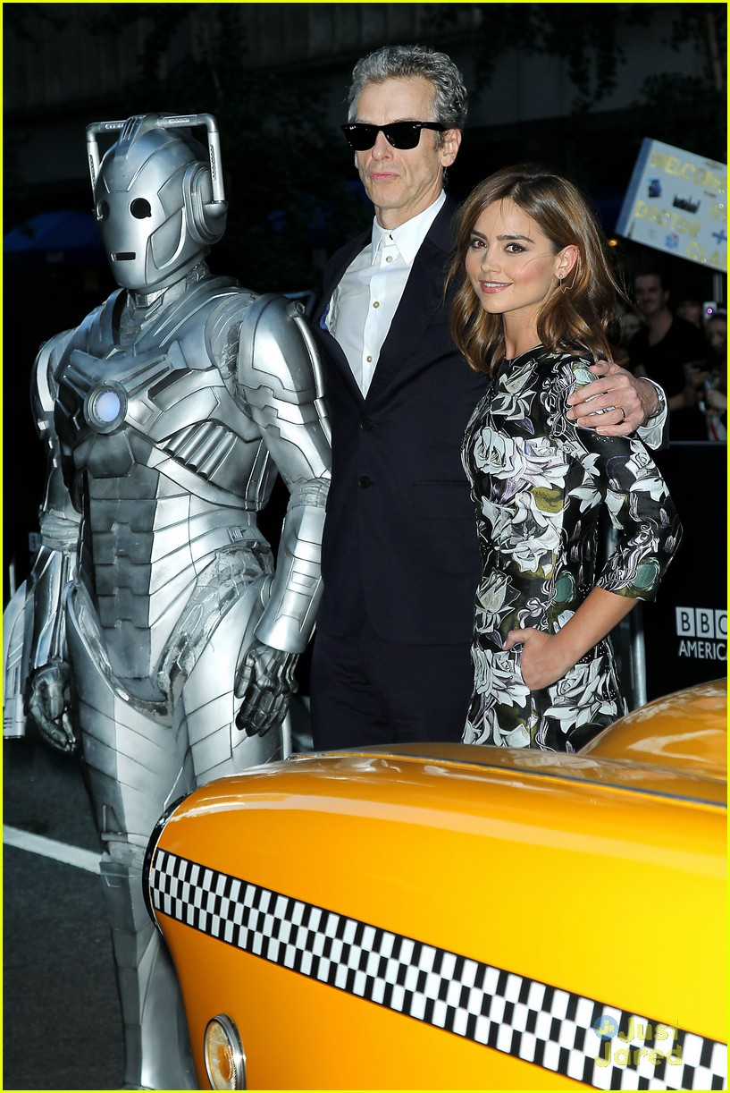 jenna coleman peter capaldi dr who fan screening nyc 19