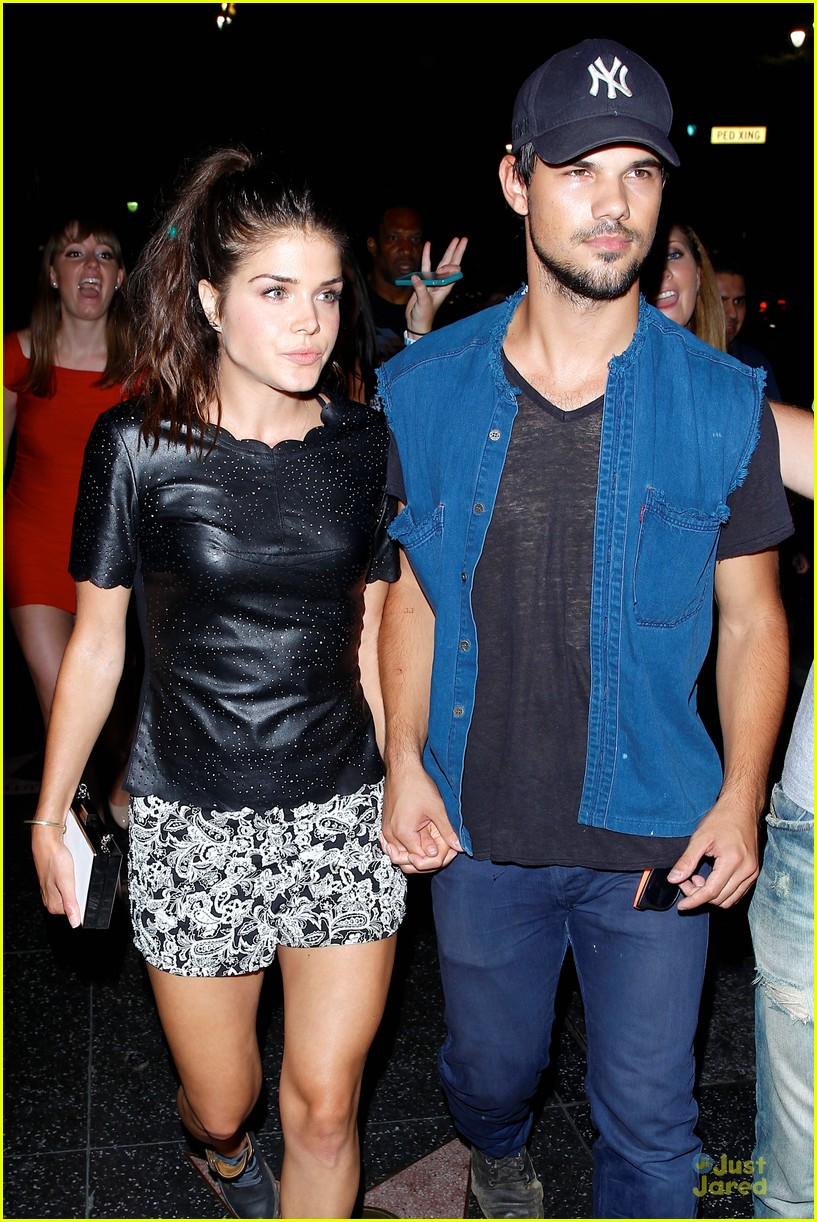 Taylor Lautner & Girlfriend Marie Avgeropoulos Hold Hands ...