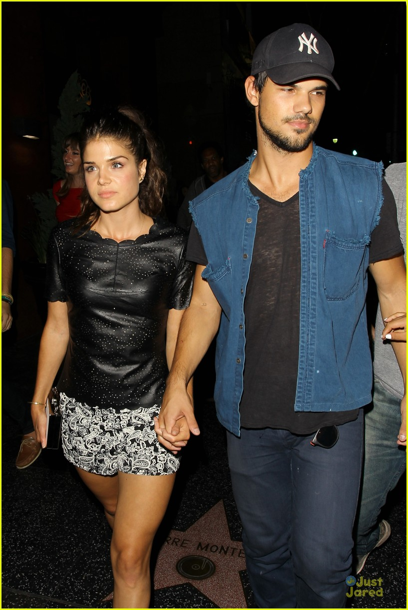 Taylor Lautner Girlfriend Marie Avgeropoulos Hold Hands After