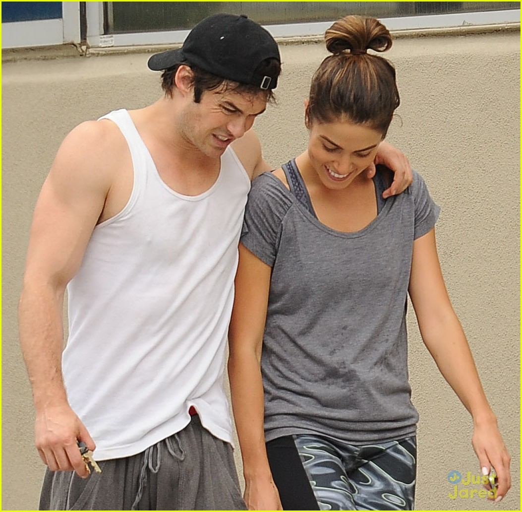 ian somerhalder nikki reed share post gym laughs 01