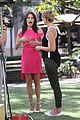 karla souza grove interview hot pink dress 10