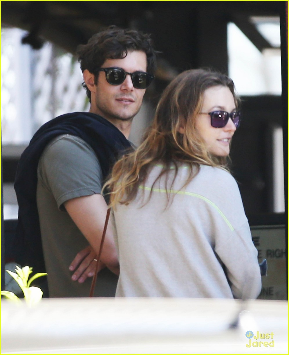 leighton meester adam brody take their family to lunch 02