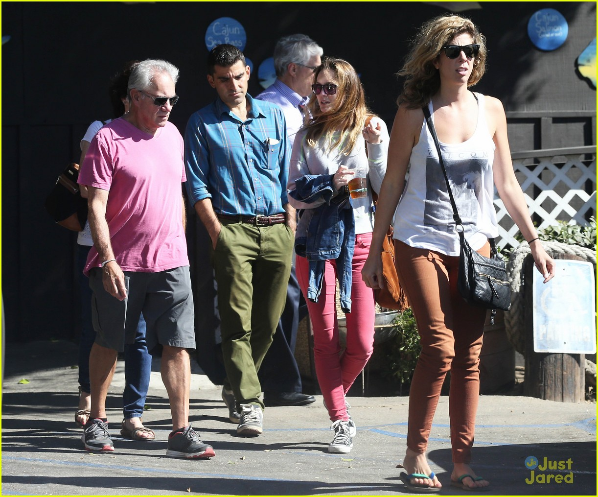 leighton meester adam brody take their family to lunch 03
