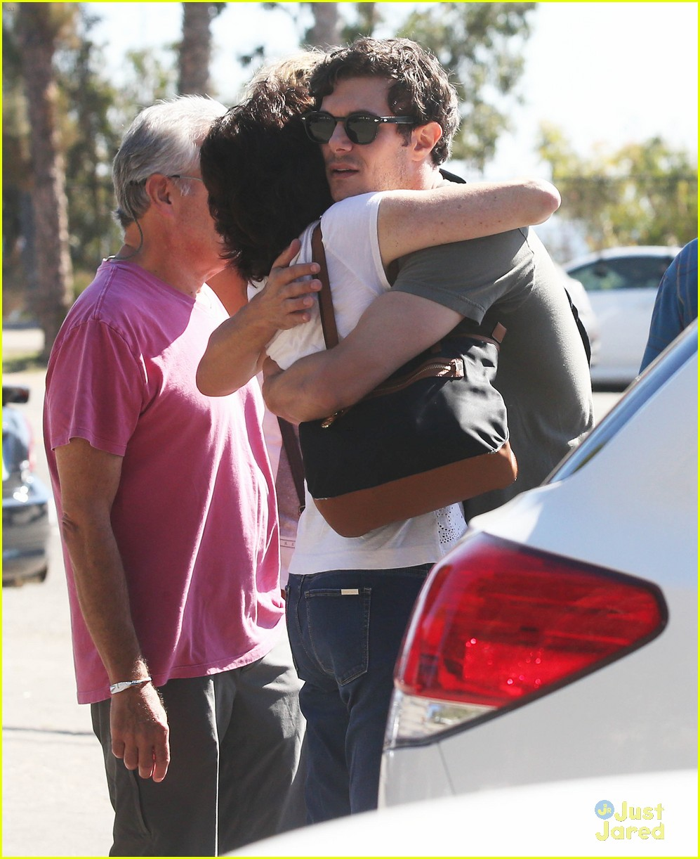 leighton meester adam brody take their family to lunch 04