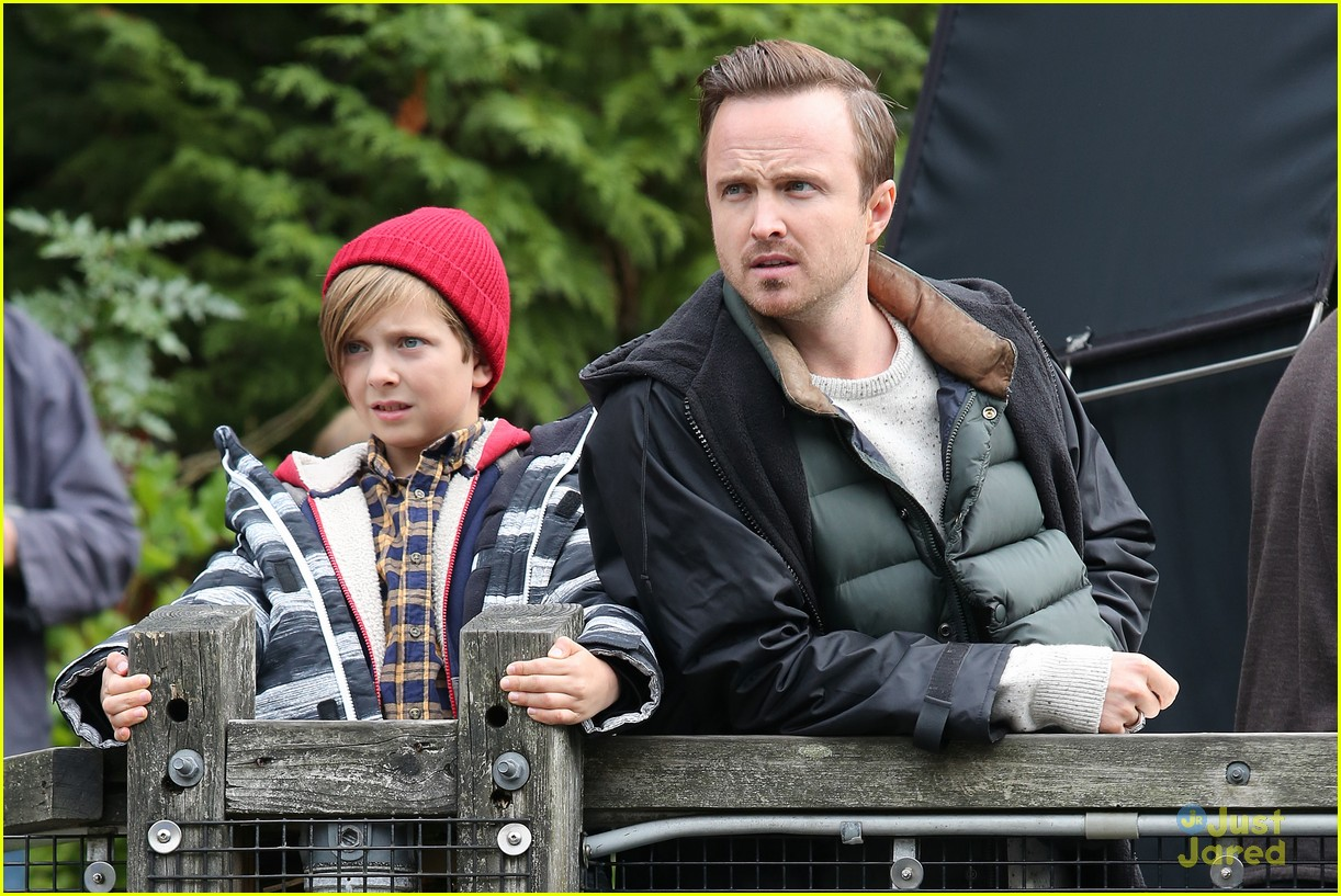 aaron paul sarah gadon ninth life of louis drax set 08