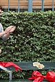 ansel elgort shailene woodley recreate bench poster tfios 12