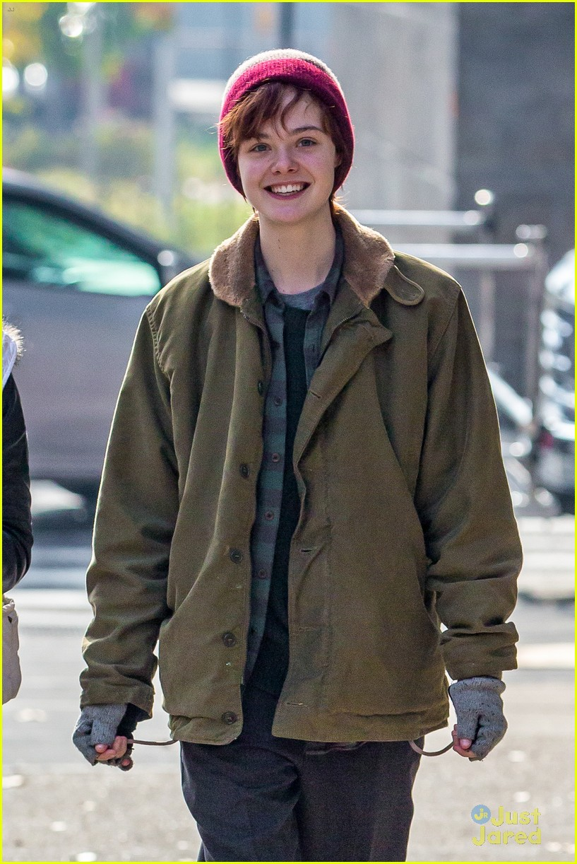 Elle Fanning Is All About The Plaid On Three Generations 08 Sofia Carson Shooting Paris Dove