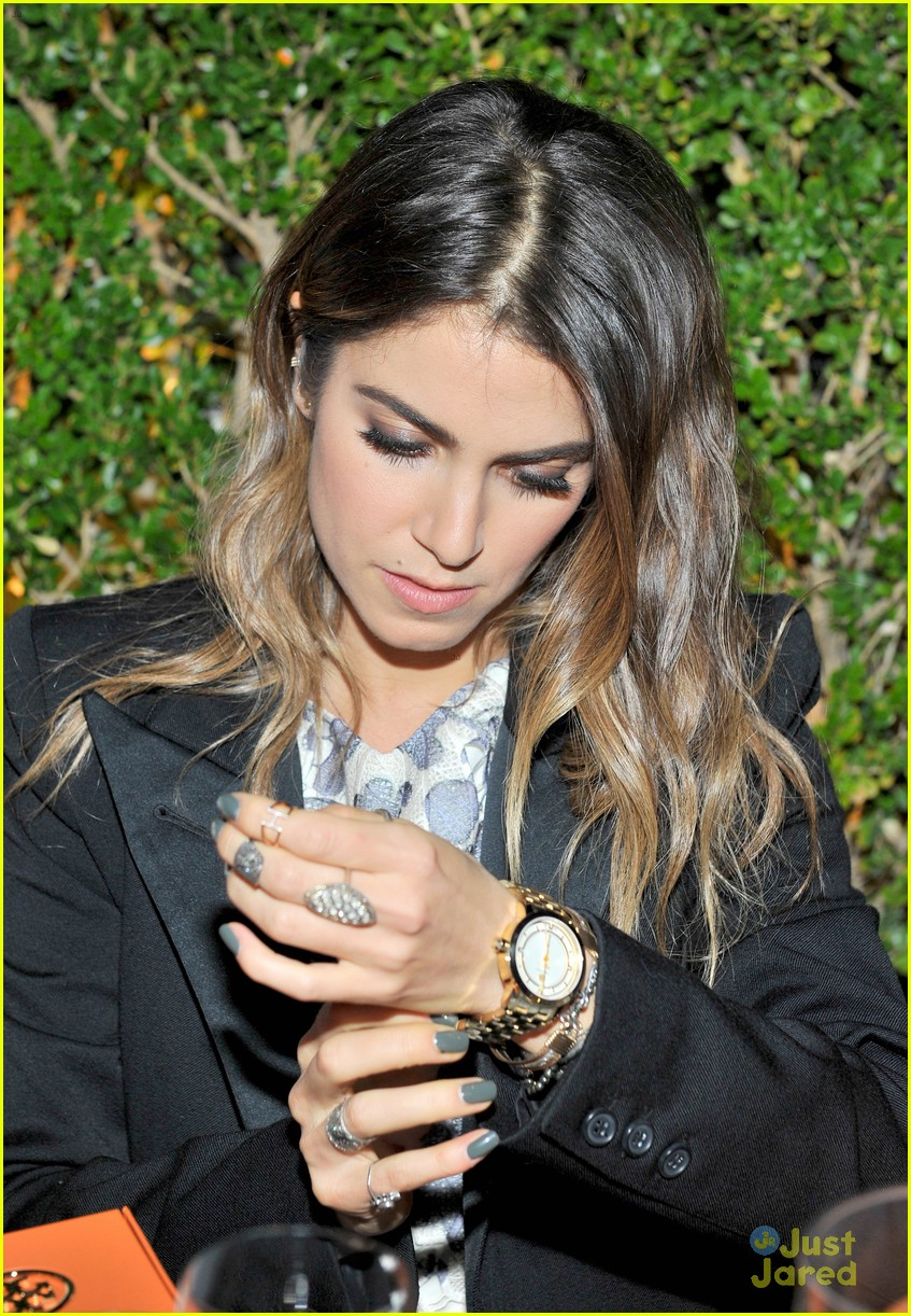 fc1ddfd7e16 Nikki Reed   Camilla Belle Doll Up For Tory Burch Watch Collection ...