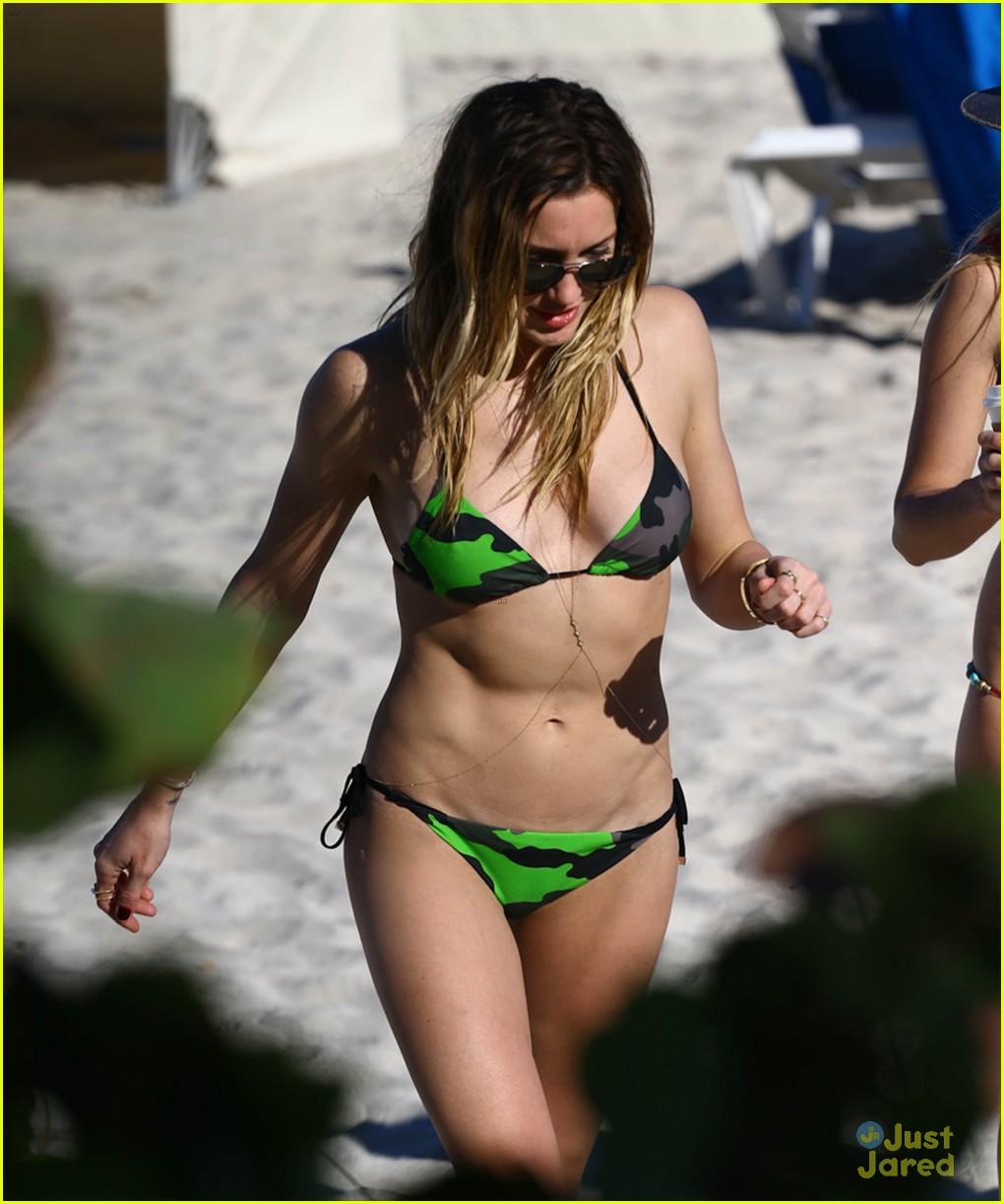 katie cassidy bikini miami arrow break 03