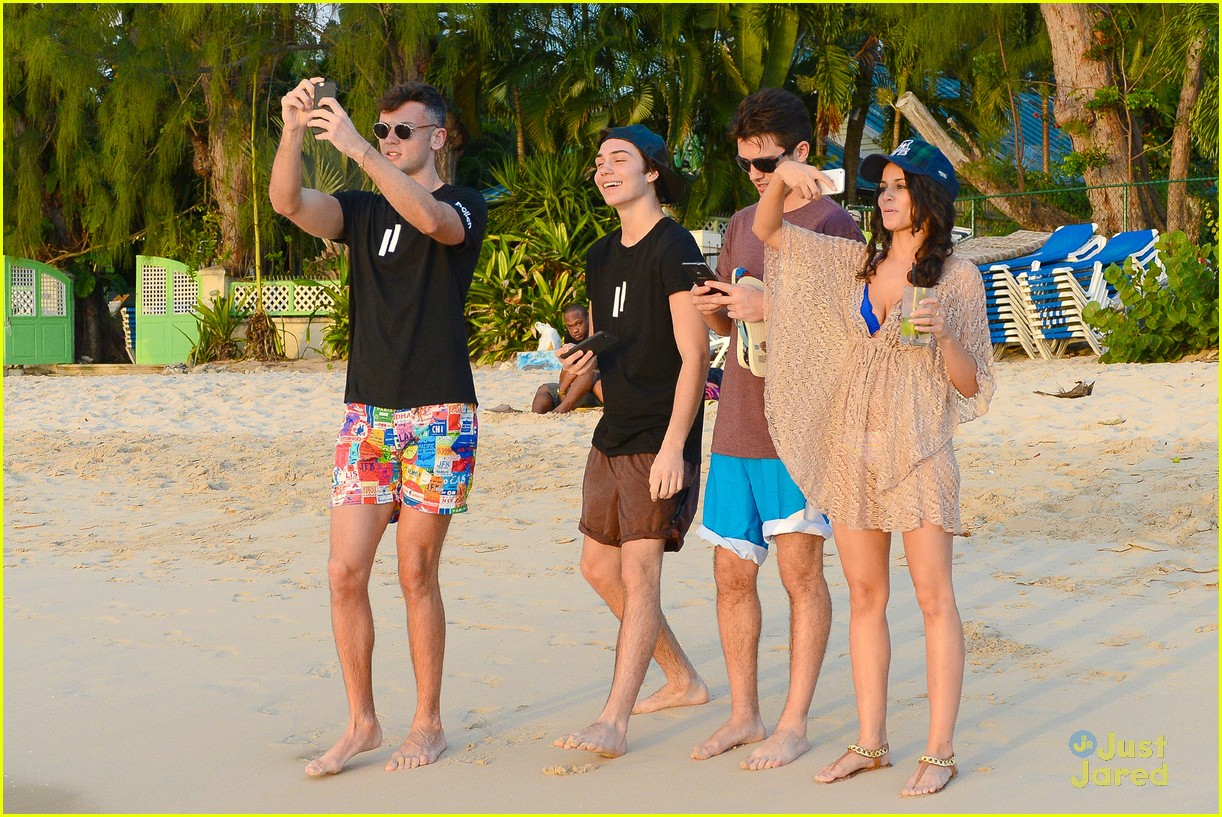 george shelley caterina lopez beach selfies barbados 25