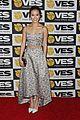 jamie chung karine vanasse get glam to present at the visual effects society 25