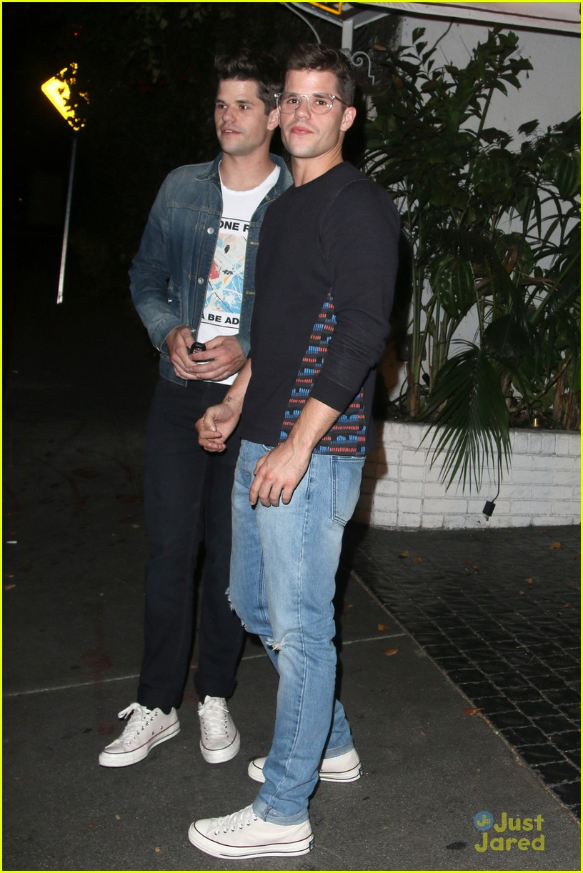 holland roden dinner out max charlie carver 01