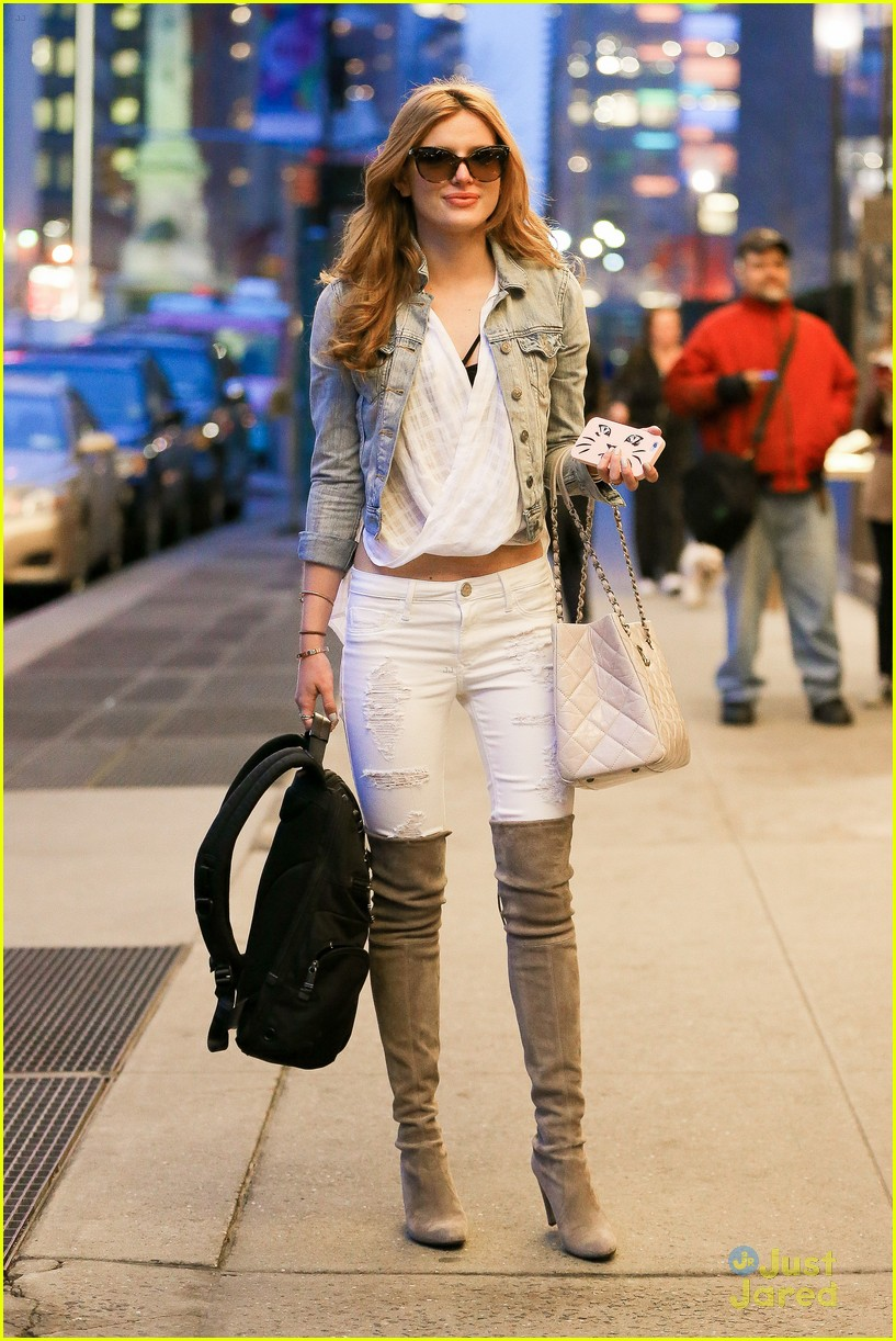 Bella Thorne Hits 'The View' Before New York Spring ...