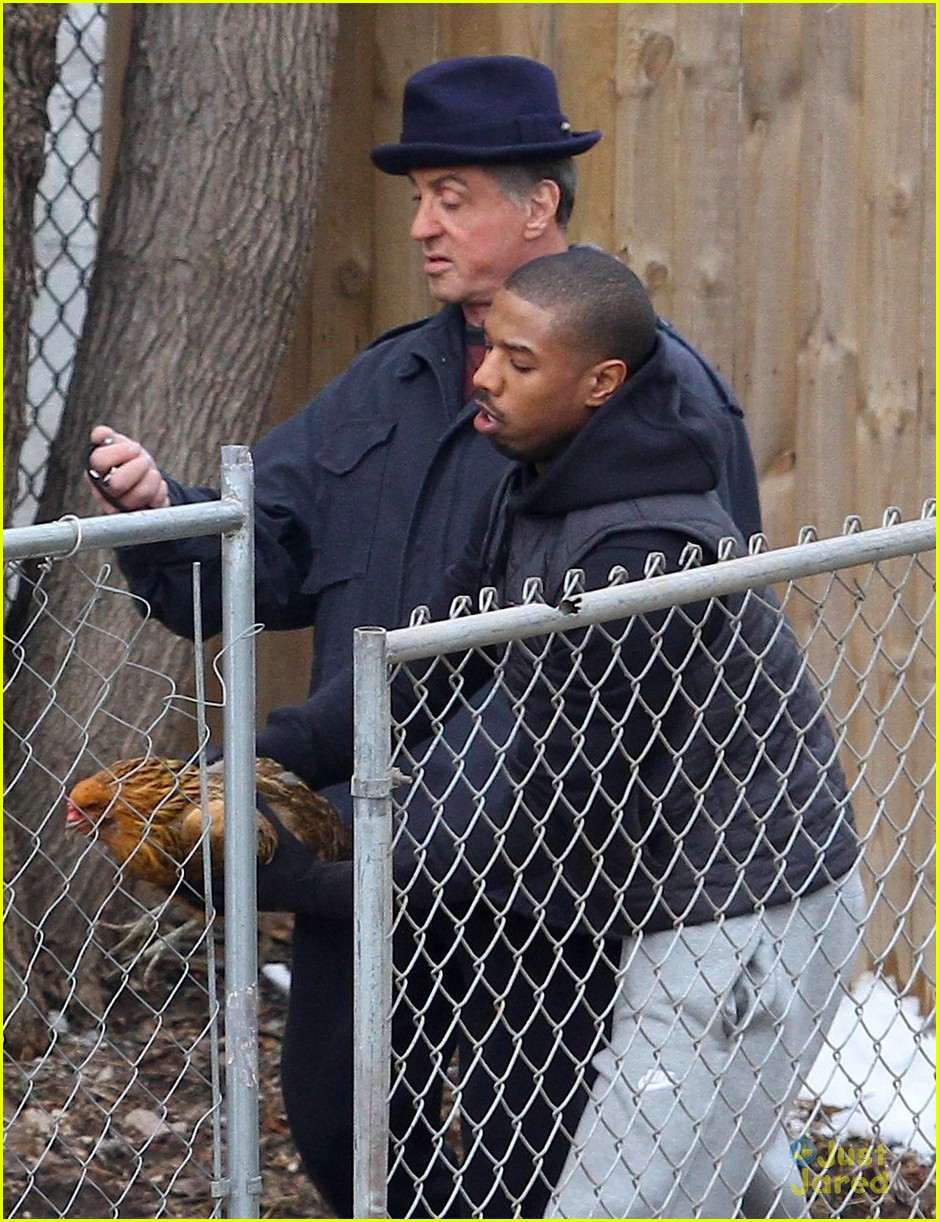 f43efe16f6a434 Michael B. Jordan Tries to Catch Chicken Under Good Time For  Creed ...