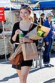 stefanie scott stocks up on supplies at farmers market 01