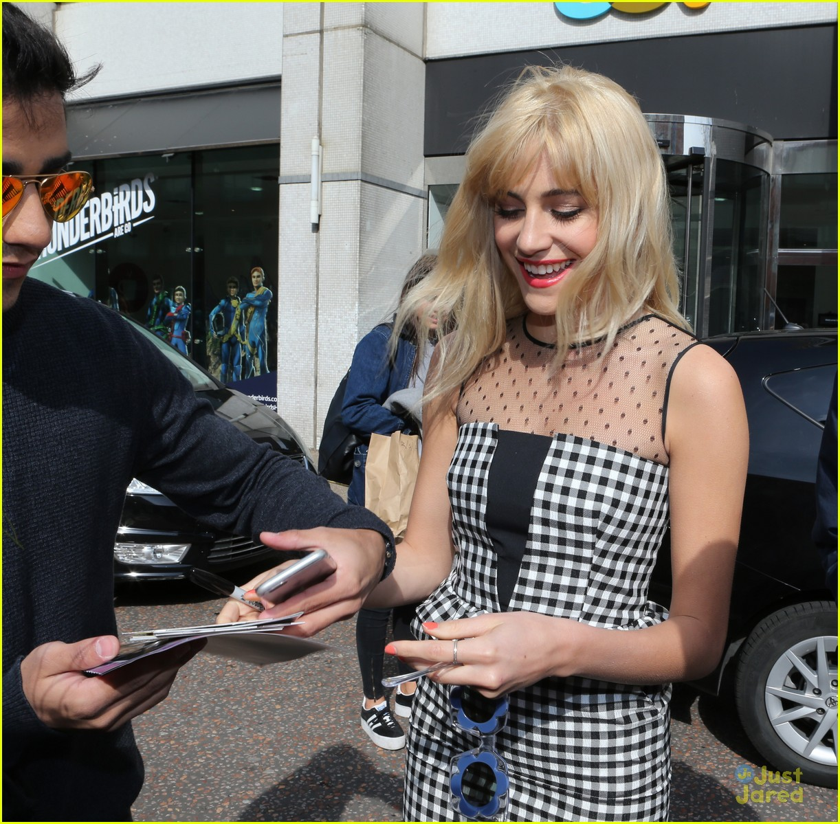 pixie lott funky glasses itv studios london 13