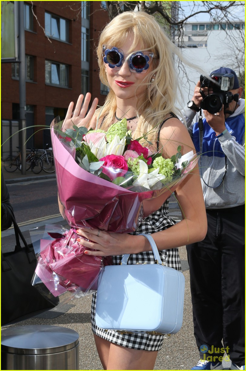 pixie lott funky glasses itv studios london 14