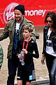 beckham family romeo london marathon 14
