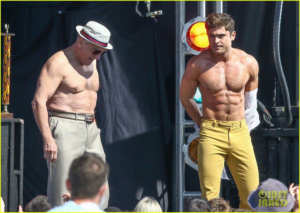 Zac Efron and Robert De Niro Have Raunchy Party in Dirty