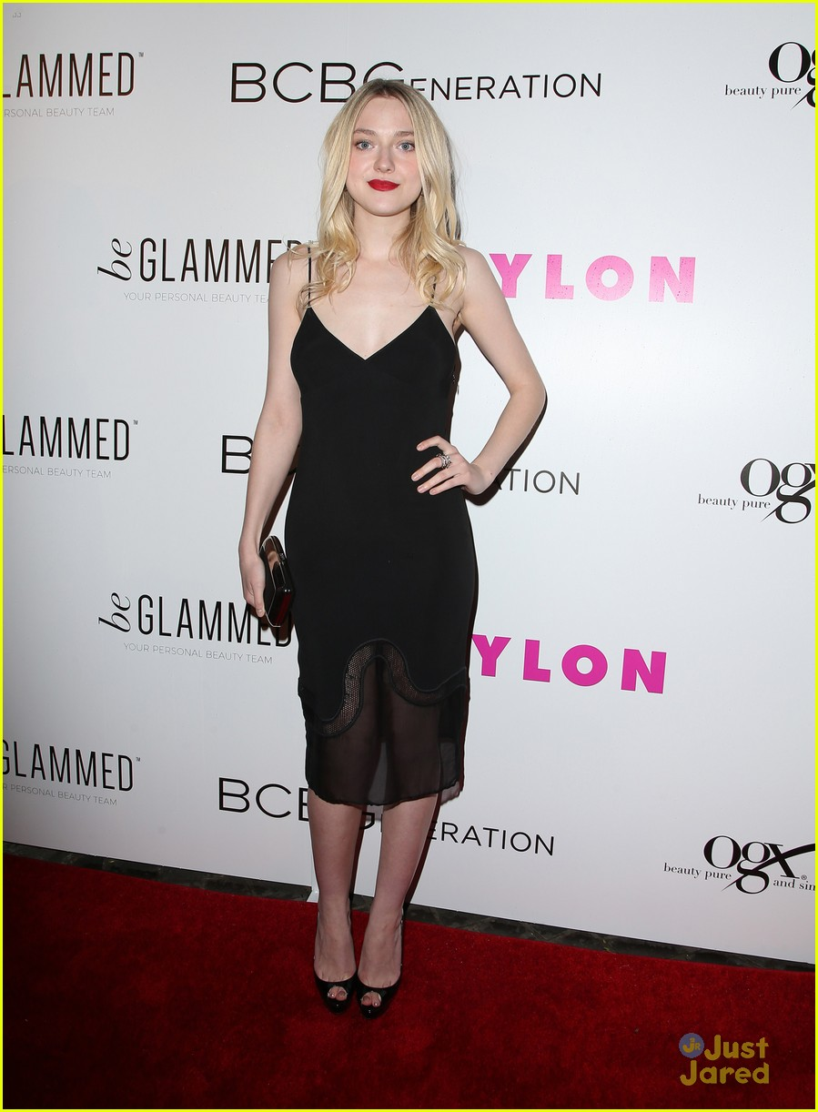dakota fanning kiernan shipka olivia culpo nylon party 17