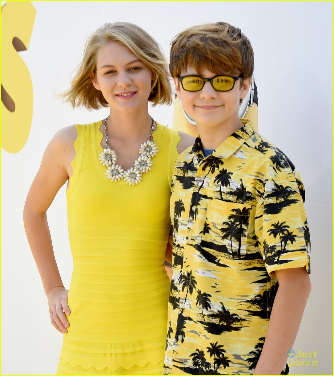 Dana Gaier & Ty Simpkins Hit The 'Minions' Premiere in