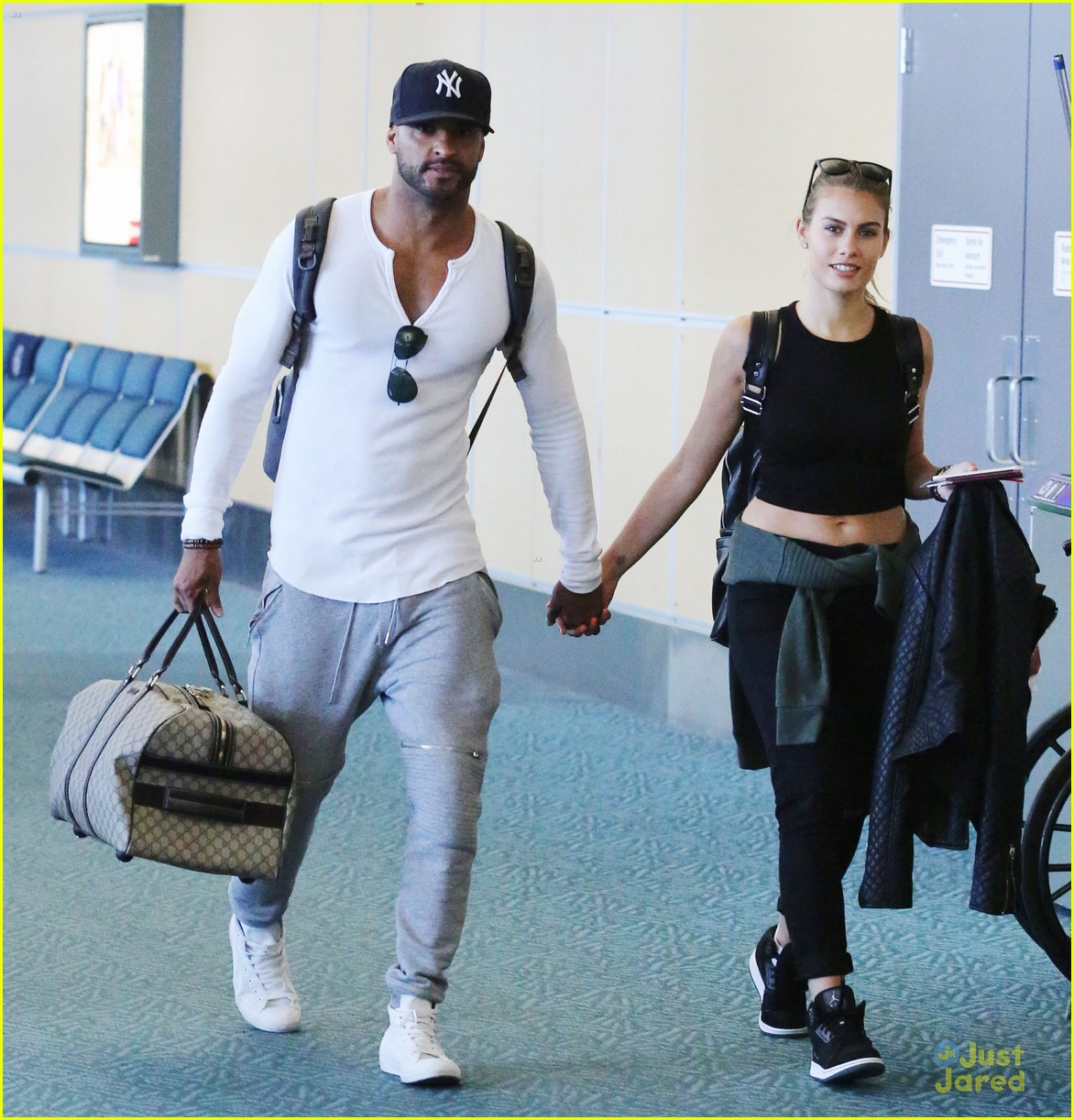 Ricky Whittle & Marie Avgeropoulos Arrive By Motorcycle ...