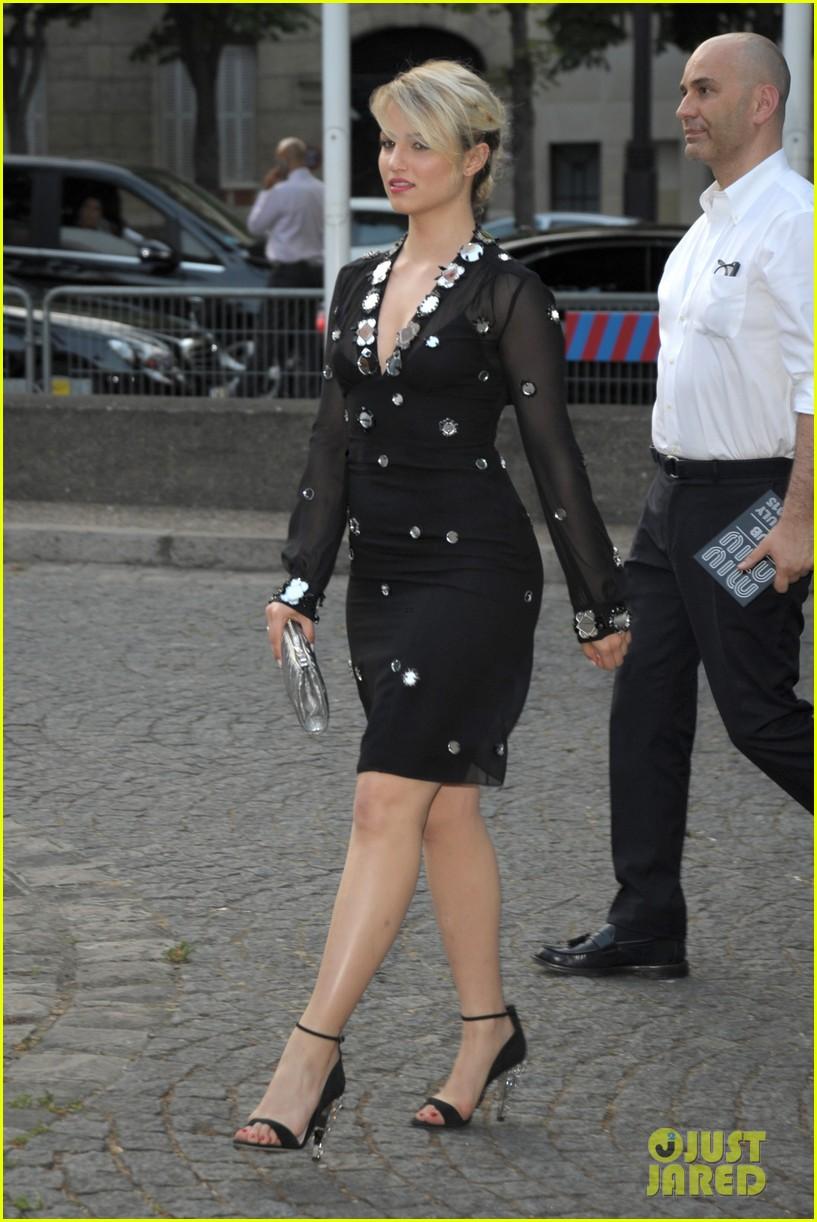 ca319f24da98 Elizabeth Olsen   Dianna Agron Get Dressy for Miu Miu Launch