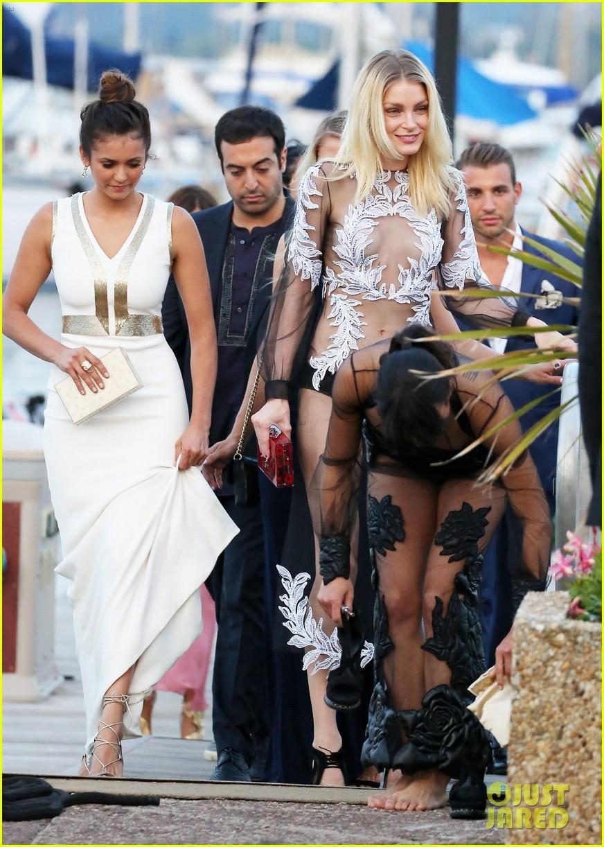 nina dobrev michelle rodriguez get glam for leonardo dicaprios foundation gala 09
