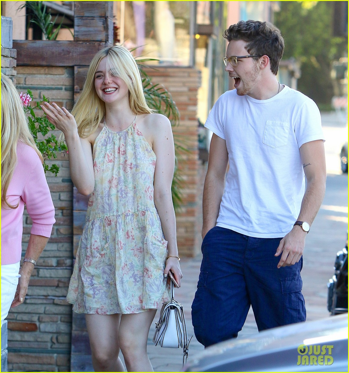 a993f4dff56a Love s young dream  Elle Fanning enjoys giggly lunch date with boyfriend  Dylan Beck