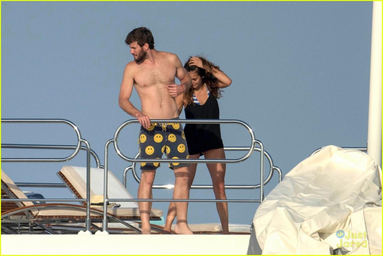 nina dobrev wears a monokini alongside shirtless boyfriend austin stowell 02