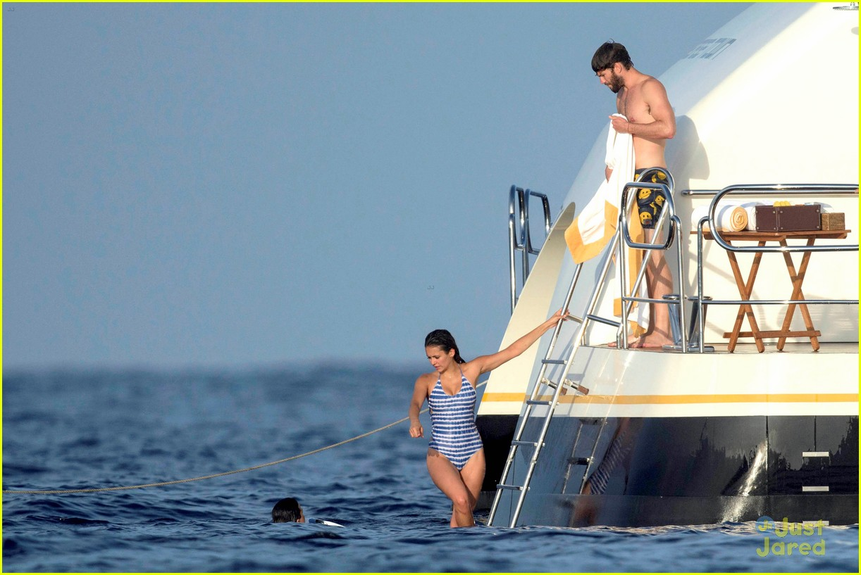 nina dobrev wears a monokini alongside shirtless boyfriend austin stowell 26